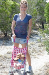 Get exercise by going on a walk with the stroller