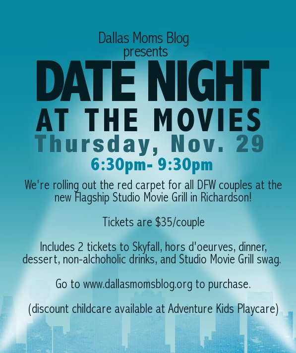Flagship Studio Movie Grill Richardson special discount date night rate dinner included