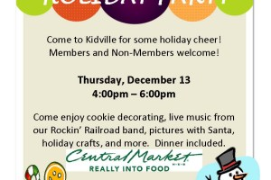 Holiday Party Flyer- Kidville Dallas