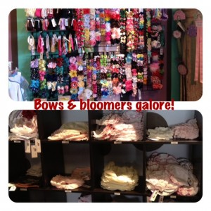 A Tiny Hiney's vast selection of bows & bloomers