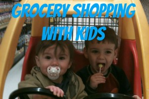 grocery shopping, kids