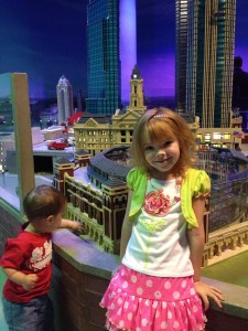 Miniland transitions between daytime and night so you can see the Dallas attractions lit up!