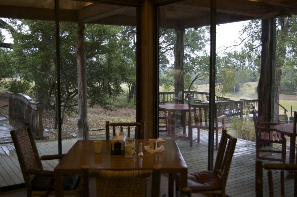 Looking out from the breakfast room & Real life safari at Fossil Rim Wildlife Center