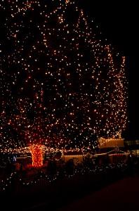 Santa's Village Christmas Tree