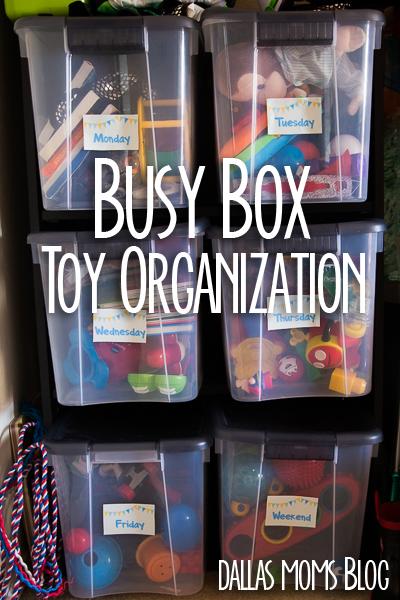 Busy Box Toy Organization