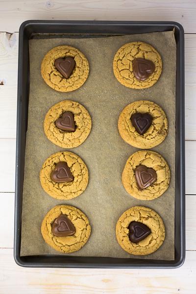 Peanut Butter Heart Cookies-4