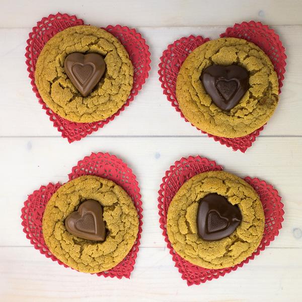 Peanut Butter Heart Cookies-5
