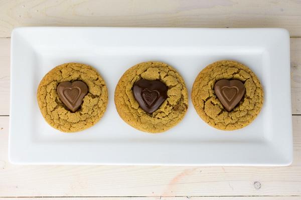 Peanut Butter Heart Cookies-7