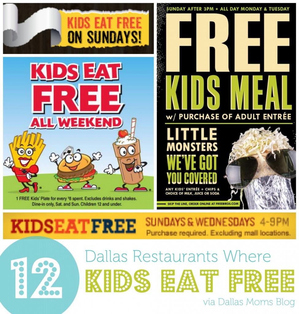 Where Kids Eat Free In Dallas