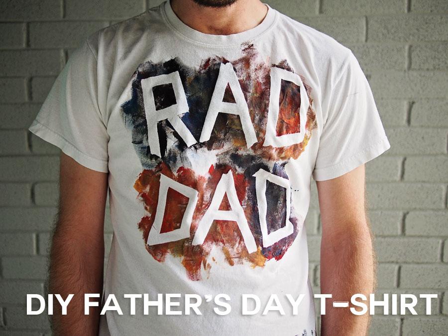 Diy Fathers Day Tee Shirt
