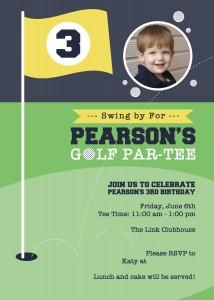 13999010531014KL Golf Birthday Invitation