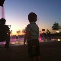 My Son Enjoying the Light Show
