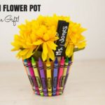 Crayon Flower Pot Teacher Gift
