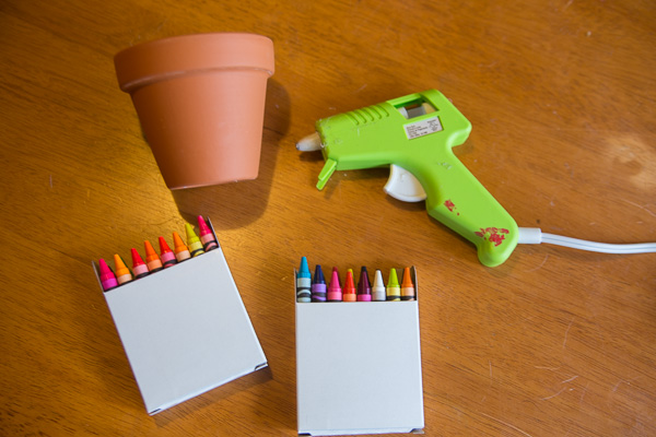 Crayon Flower Pot Teacher Gift-1