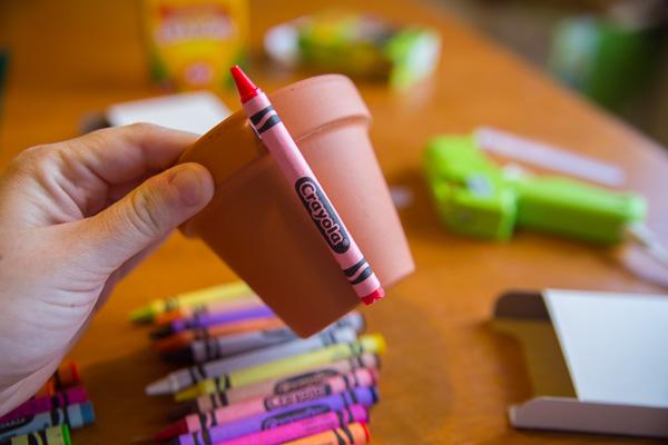 Crayon Flower Pot Teacher Gift-2