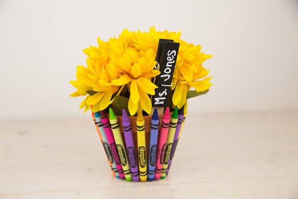 Crayon Flower Pot Teacher Gift-7