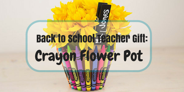 Crayon Flower Pot