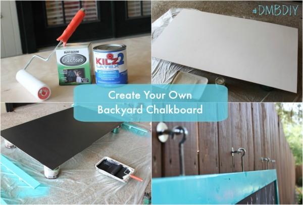 Create your own backyard chalkboard