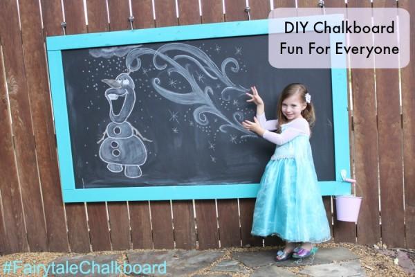 Frozen chalk drawings DIY Chalkboard