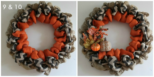 DIY Fall Burlap Front Door Wreath How To