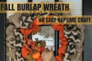 Fall Burlap Wreath - Dallas Moms Blog