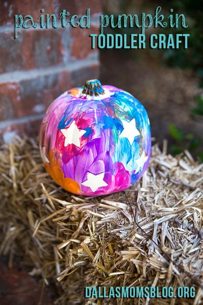 Painted Pumpkin Toddler Craft