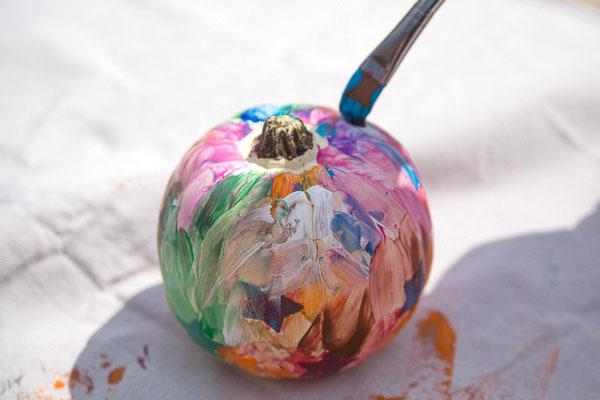 Toddler Painted Pumpkin-13