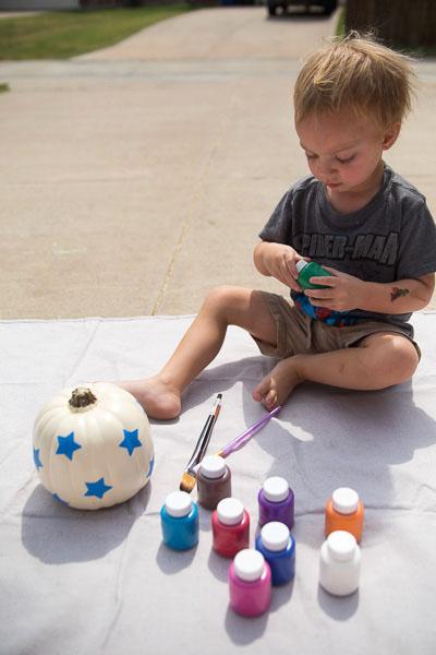 Toddler Painted Pumpkin-7