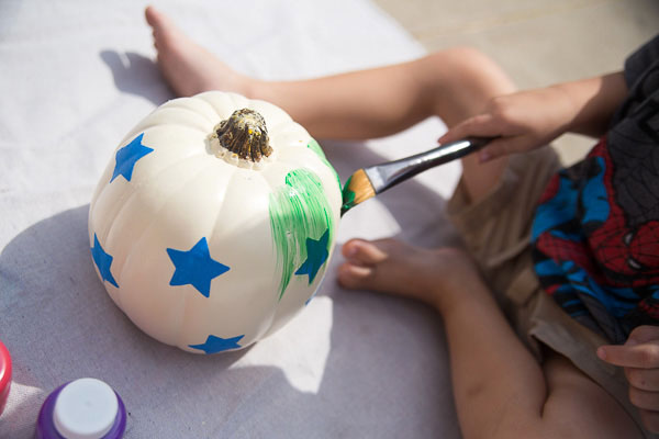 Toddler Painted Pumpkin-8