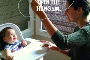 Baby Eating Hanger