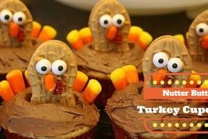 Nutter Butter Turkey cupcakes dallasmomsblog