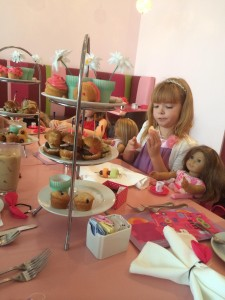 American Girl Doll Dallas Tea food