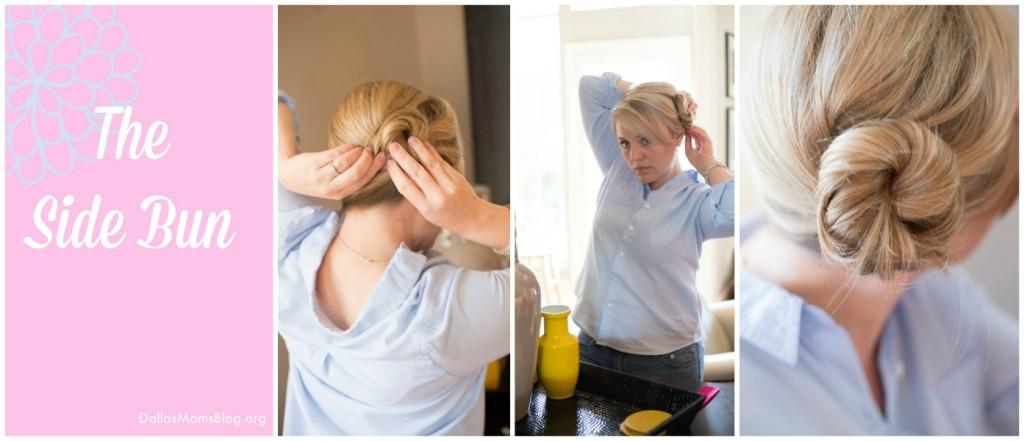 Side Bun Easy Mom Hairstyle