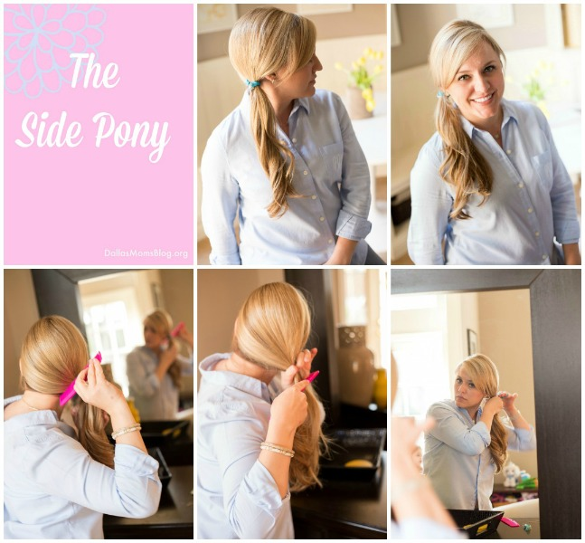 Side Ponytail Easy Mom Hairstyle