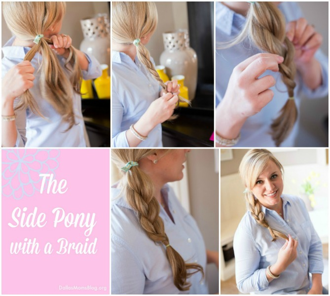 side pony with braid collage