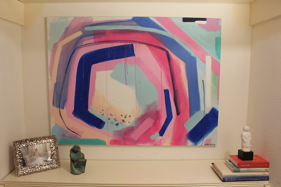 I even had closet space to add my own piece of art, courtesy of up-and-coming local artist Ashlee McClung,