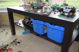 IKEA Table turned Lego Table