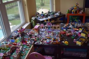 IKEA Lego Tables Playroom Organization
