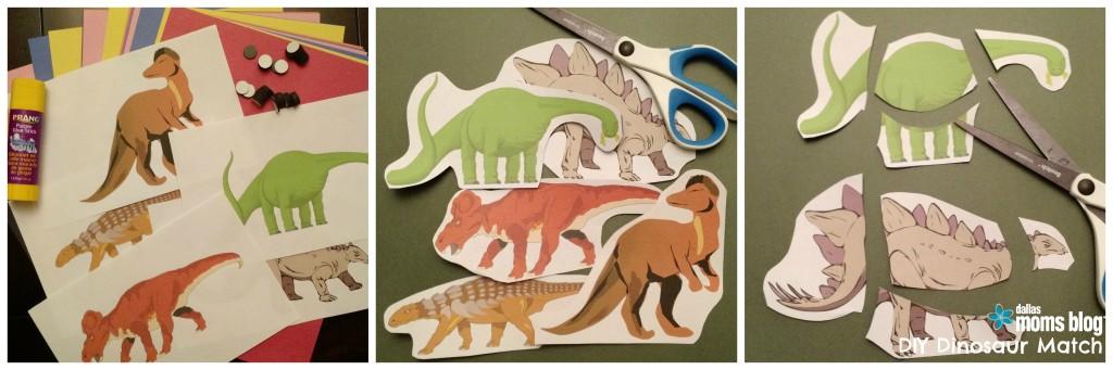 DIY Dinosaur Match DallasMomsBlog