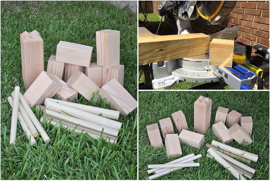 DIY Yard Games - Megan Harney for Dallas Moms Blog Kubb 2