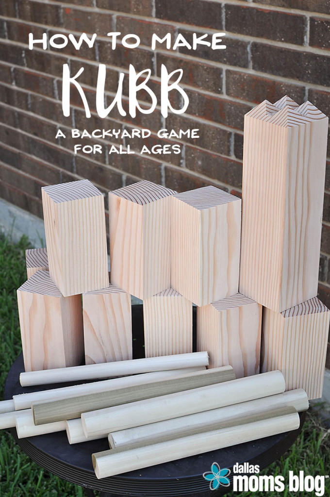 DIY Yard Games - Megan Harney for Dallas Moms Blog Kubb