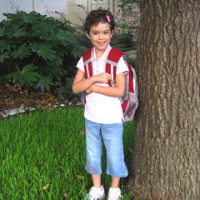 My daughter on her first day of Kindergarten