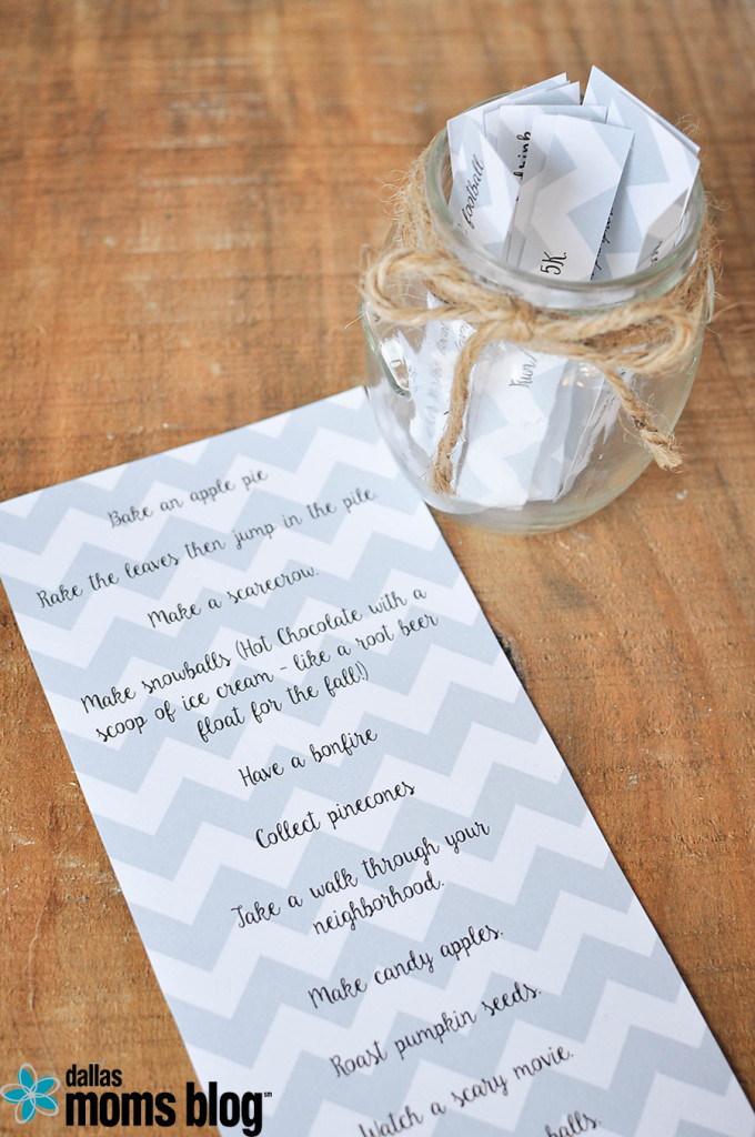 DIY Fall Family Fun Jar | Megan Harney for Dallas Moms Blog 4