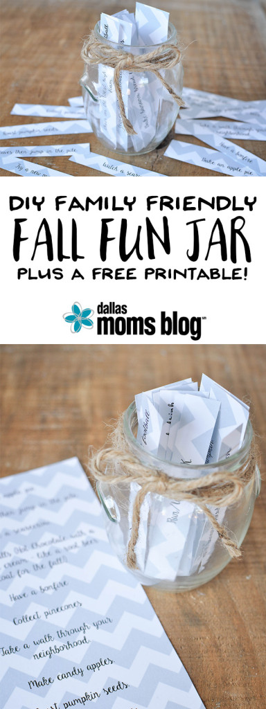 DIY Fall Family Fun Jar | Megan Harney for Dallas Moms Blog Pinterest
