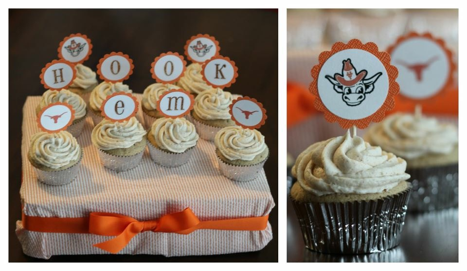 Football Themed Cupcakes - Dallas Moms Blog
