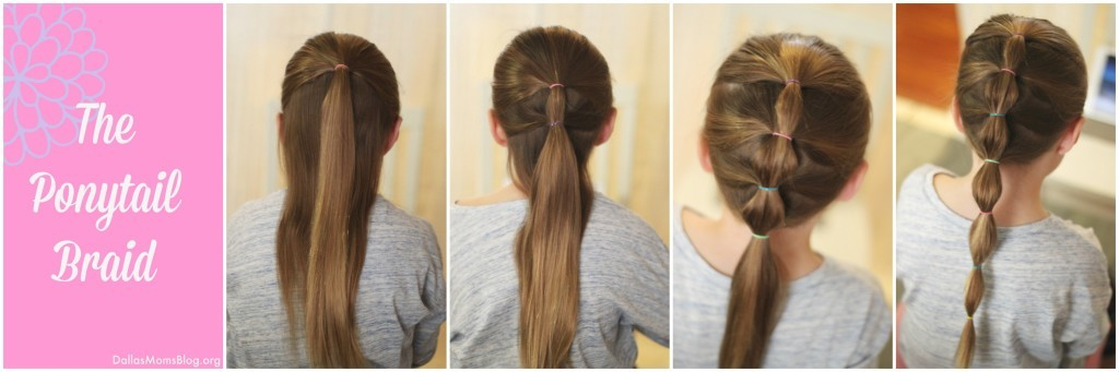 Five Minute Little Girl Hair   Ponytail Braid Collage