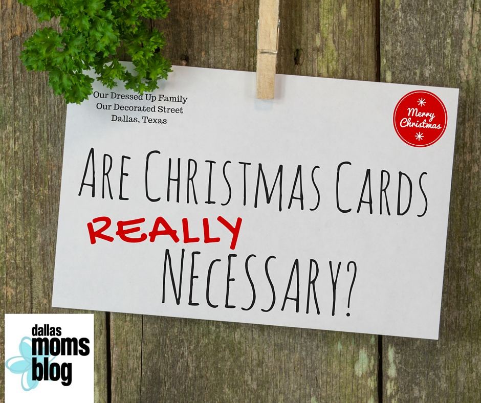 Are Christmas Cards REALLY Necessary?