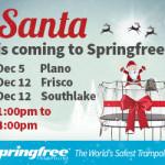 Jump With Santa at Springfree Trampoline