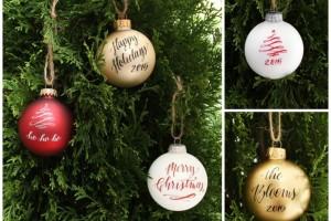 Design Roots personalized ornaments dallas moms blog