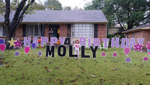 Ight In Central Dallas And Boy Does It Have Big Impact You Can Order A Custom Sign Happy 4th Birthday Molly The Company Comes To Your House